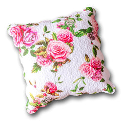 "CUSHION COVER - DaDa Bedding Romantic Roses Spring Floral Pink Euro Pillow Sham Cover, 26"" x 26"" (JHW879) - DaDa Bedding Collection"