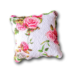 "CUSHION COVER - DaDa Bedding Set of 2 Romantic Roses Spring Floral Pink Throw Pillow Covers, 18"" (JHW879) - DaDa Bedding Collection"