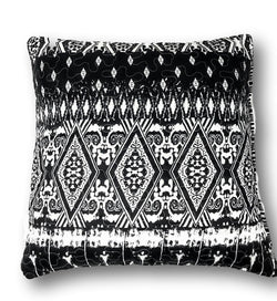 "CUSHION COVER - DaDa Bedding Aztec Black & White Diamond Throw Pillow Covers, 18"" x 18"", 2-PCS (C14800-1-CC) - DaDa Bedding Collection"