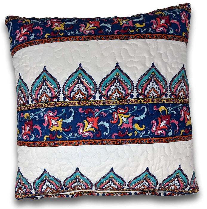 "CUSHION COVER - DaDa Bedding Set of Two Bohemian Earthy Meadow Throw Pillow Covers, 18"" x 18"", 2-PCS (160553-9-CC) - DaDa Bedding Collection"
