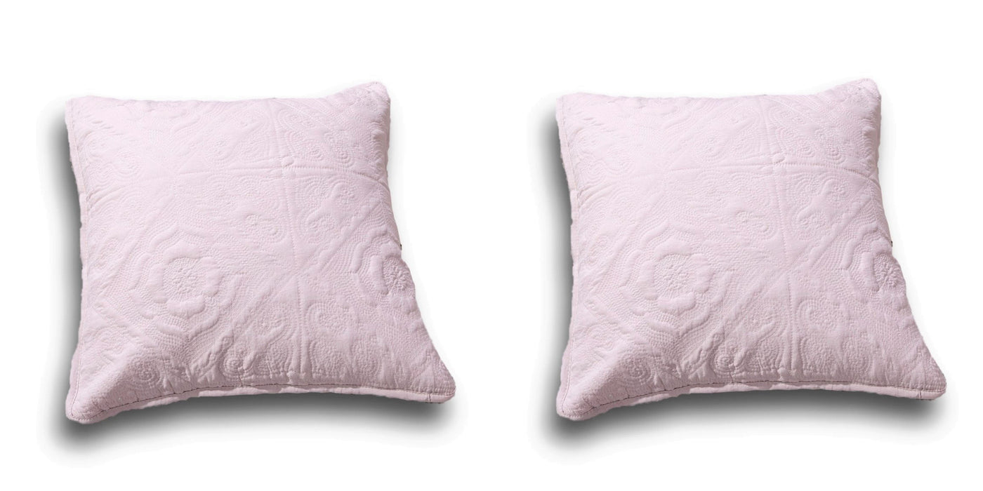 "CUSHION COVER - DaDa Bedding Set of Two Elegant Floral Country Rose Pink Throw Pillow Covers, 18"" x 18"",  2-PCS (JHW860) - DaDa Bedding Collection"