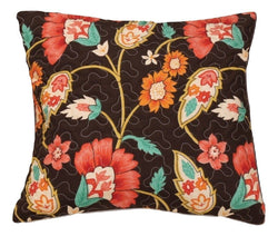 "CUSHION COVER - DaDa Bedding Set of Two Marigold's Garden Bohemian Throw Pillow Covers, 18"", 2-PCS (HS-3330-CC) - DaDa Bedding Collection"