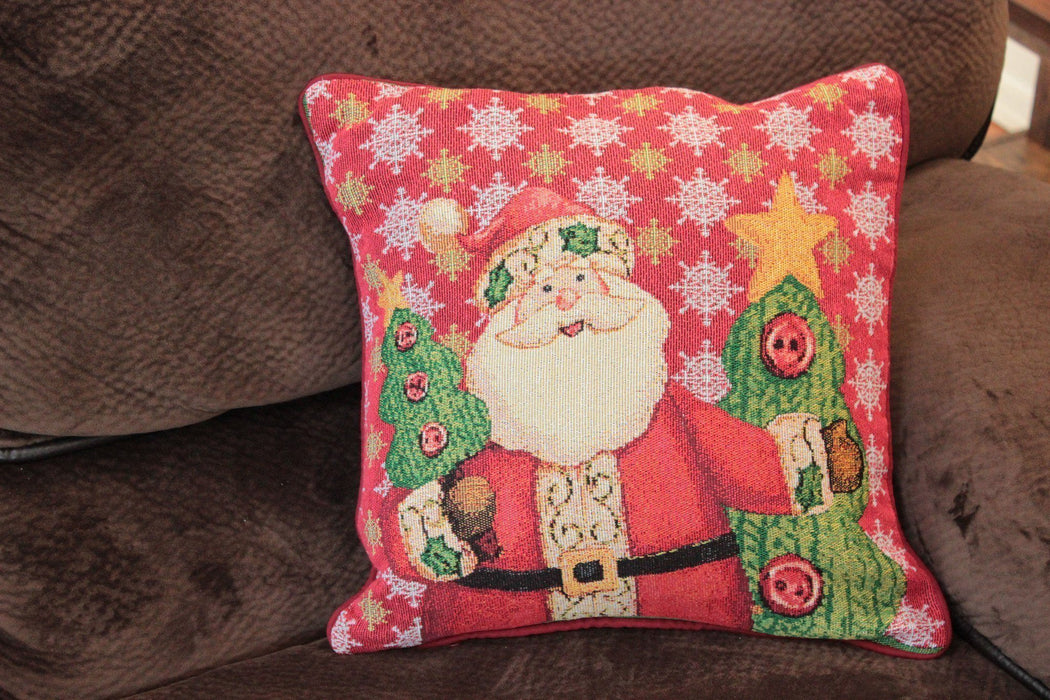 Cushion Cover - Tache Festive Christmas Cute Santa Clause Is Coming To Town Cushion Cover
