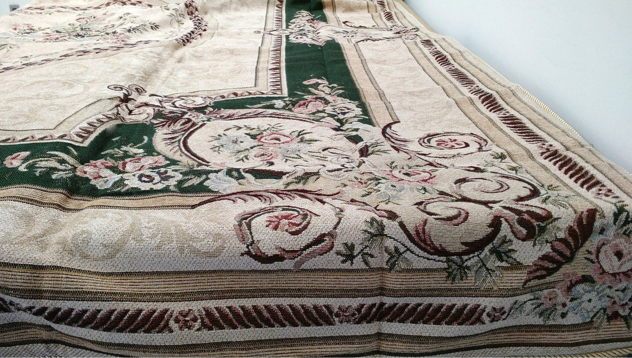 Dada Bedding Olive Green Victorian Floral Chenille