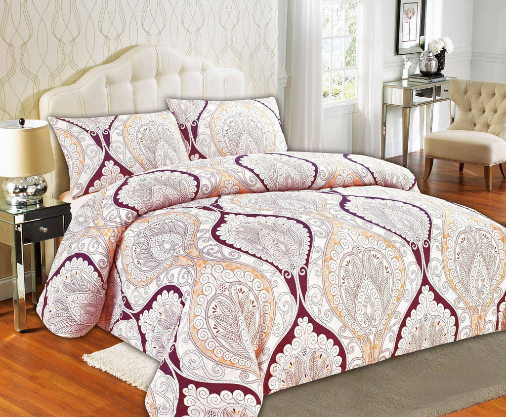 Tache maroon mandala fancy patterned paisley rustic duvet cover set dada bedding collection
