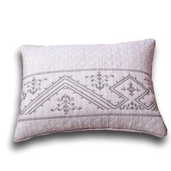 "Pillow Case - DaDa Bedding Elegant Fair Isle Purple Grey Yarn Dyed Quilted King Pillow Sham, 20"" x 36"" (JHW866) - DaDa Bedding Collection"