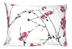 "Pillow Case - DaDa Bedding Set of 2 Cherry Blossom Floral White Pink Pillowcases - Queen 20"" x 30"" - 2-PCS (8318) - DaDa Bedding Collection"