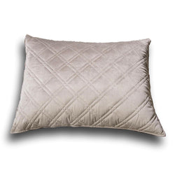 "Pillow Case - DaDa Bedding Taupe Grey Velvet Quilted King Pillow Sham - 20"" x 36"" (JHW831) - DaDa Bedding Collection"