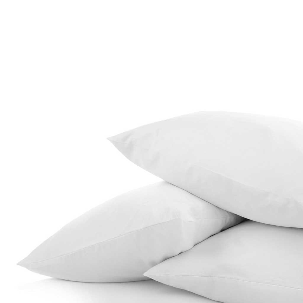 "DaDa Bedding Soft Solid White 100% Cotton Pillowcases - Queen 20"" x 30"" - 1-4-Pieces"