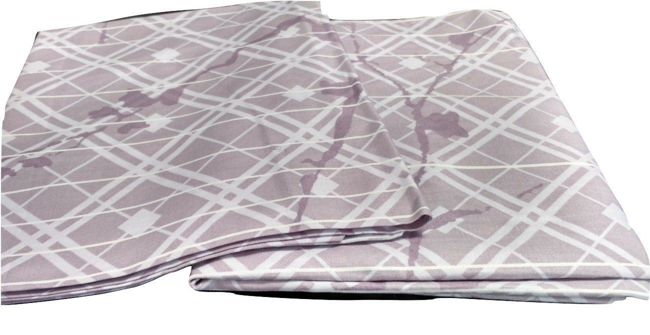 "PILLOW - DaDa Bedding Set of Two Purple Floral Cherry Blossom Pillow Cases, Queen 20"" x 30"", 2-PCS (8318) - DaDa Bedding Collection"