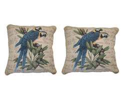 "PILLOW - DaDa Bedding Set of Two Parrots in Love Throw Pillow Covers w/ Inserts - 2-PCS - 18"" - DaDa Bedding Collection"