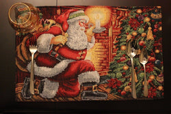 Placemat - Tache Festive Down The Chimney Woven Tapestry Placemat