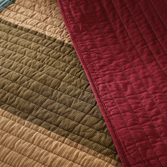 QUILT - DaDa Bedding Classical Desert Sands Cotton Velveteen Patchwork Bedspread Set (JHW-577) - DaDa Bedding Collection