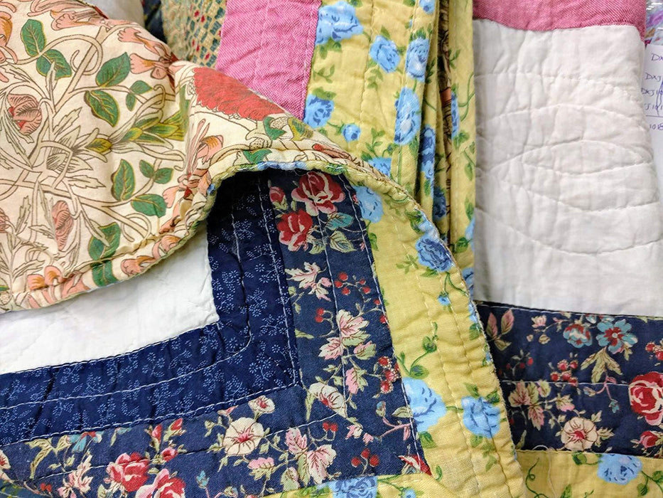 QUILT - DaDa Bedding Cotton Patchwork Spring Patio Floral Garden Quilted Bedspread Set - Twin/Single (DXJ100286) - DaDa Bedding Collection