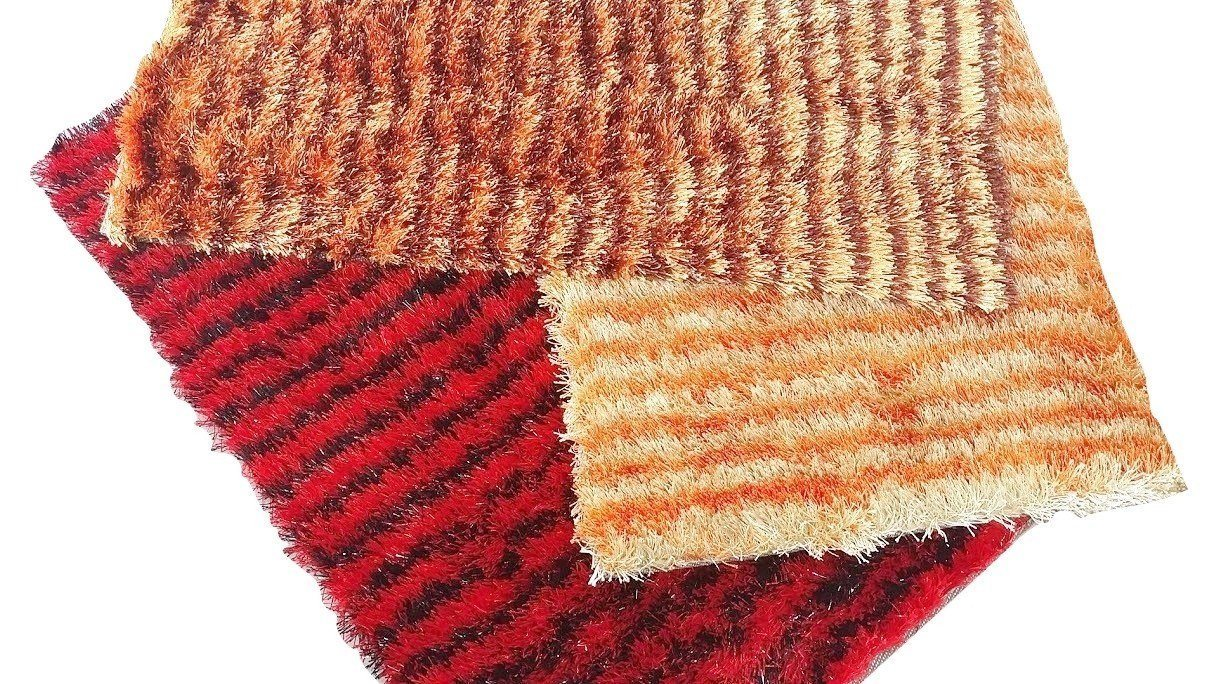 Dada Bedding Polyester Shaggy Carpet 20 Quot X 32 Quot Stripe Red