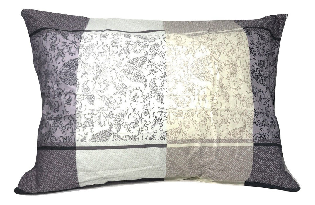 "SHEET SET - DaDa Bedding Elegant Grey Floral Paisley Pillow Cases - Queen 20"" x 30"" - 2 Pieces (8222) - DaDa Bedding Collection"