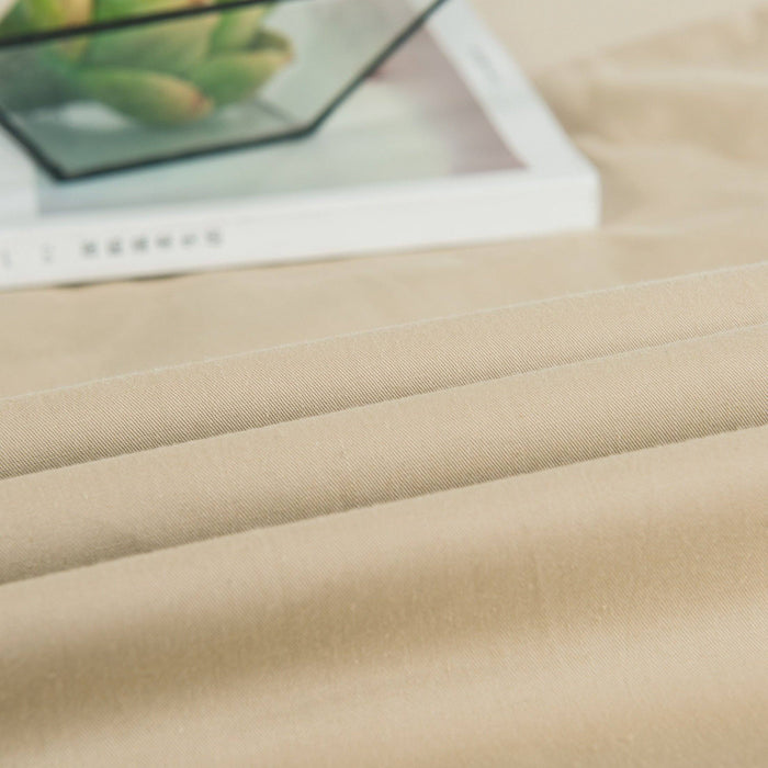 SHEET SET - DaDa Bedding Luxury Gallery of Roses Beige Fitted Sheet & Pillow Cases Set (JHW-546-Fitted) - DaDa Bedding Collection