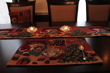 Table Linen - 8 Piece Last Minute Table Set, 2 Table Runners, 2 Cushion Covers, And 4 Placemats