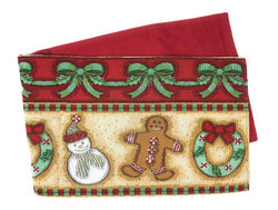 TABLE RUNNER - DaDa Bedding Gingerbread Sweets Table Runner, Holiday Cookies Tapestry (12917) - DaDa Bedding Collection
