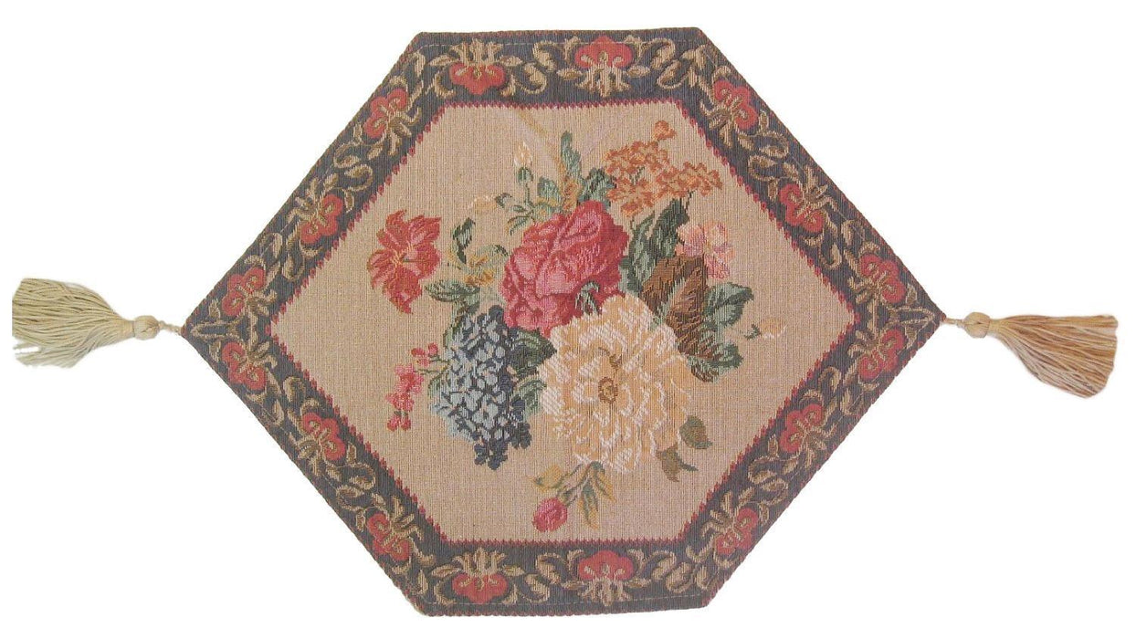 ... TABLECLOTH   DaDa Bedding Breath Of Spring Floral Beige Brown Tapestry Table  Runner Cloth (3089 ...