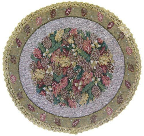 TABLECLOTH - DaDa Bedding Festive Christmas Fiesta Floral Round Tapestry Table Cloth - DaDa Bedding Collection