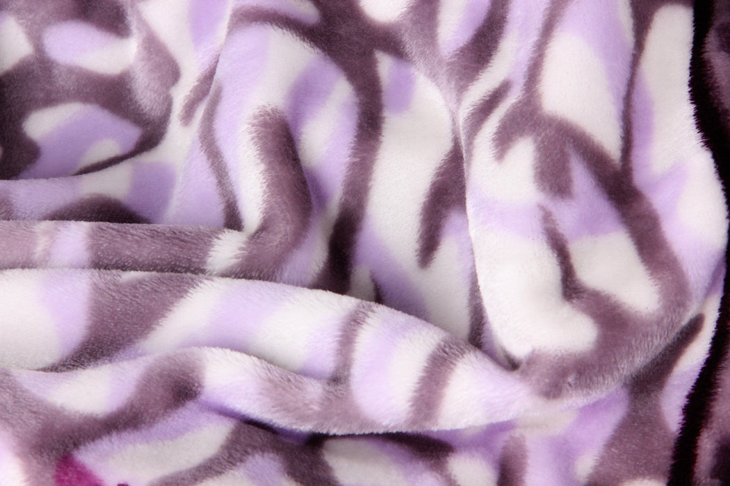 Throw Blanket - DaDa Bedding Orchid Blossoms Striped Floral Lavender Plush Fleece Flannel Throw Blanket (XY9833) - DaDa Bedding Collection
