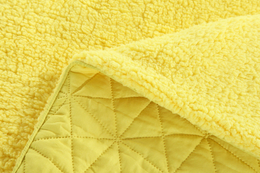 Throw Blanket - DaDa Bedding Tuscan Sun Yellow Quilted Ultra Sonic Throw Blanket Bedspread (BJ0107) - DaDa Bedding Collection