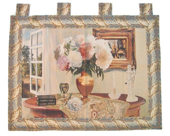 "WALL HANGING - DaDa Bedding Breeze Of Admiration Artistic Elegant Woven Fabric Baroque Tapestry Wall Hanging - 36"" X 47"""