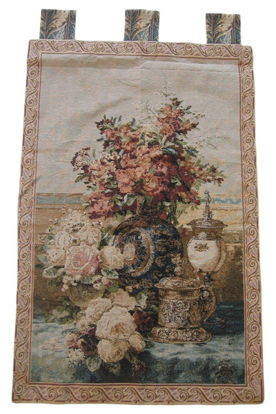 "WALL HANGING - DaDa Bedding Rose Radiance Floral Elegant Woven Fabric Baroque Tapestry Wall Hanging - 28"" X 43"""