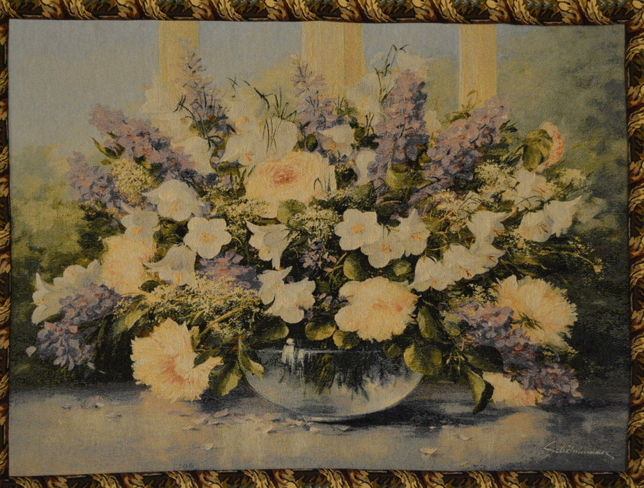Wall Hanging - Tache 33 X 24 Inch Flowering Bouquet Floral Tapestry Wall Hanging