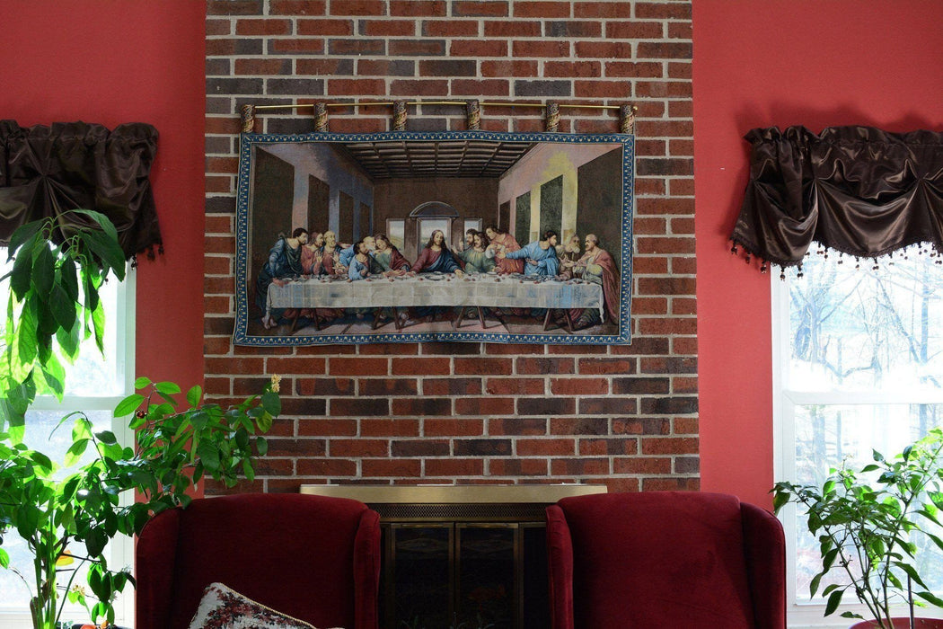 Wall Hanging - Tache 55 x 27 The Last Supper Woven Tapestry Wall Hanging Art - DaDa Bedding Collection