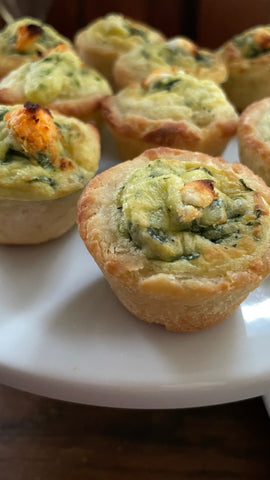 Mini Quiches - Spinach & Goat Cheese
