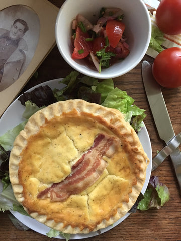 Alsacienne Traditional Quiche with Bacon and Gruyere