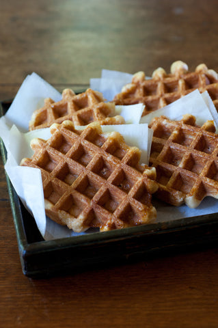 Authentic Belgian Sugar Waffles (6 Waffles)