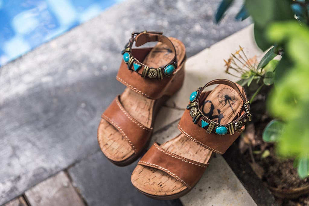 Introducing OTBT's ultimate spring break sandals, the Layover platform wedges.