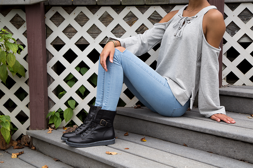 Combat boots are back again! Discover how to wear this bold, classic style with OTBT's Brentsville boots.