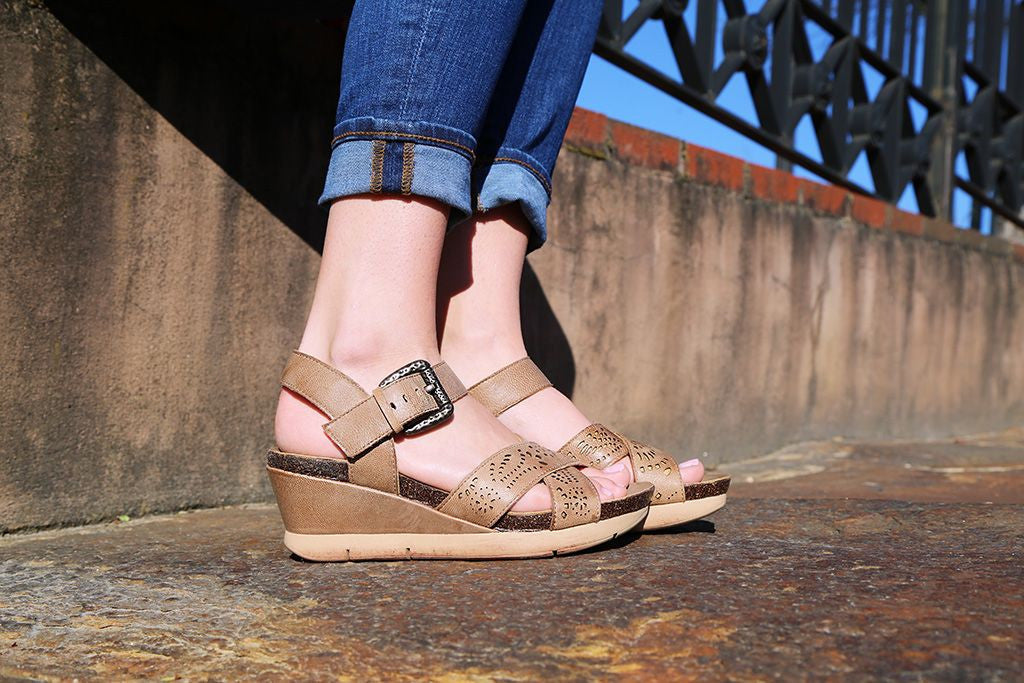 Looking for a comfortable pair of spring and summer wedges? Check out the Gearhart, comfortable and stylish women's walking shoes from OTBT.