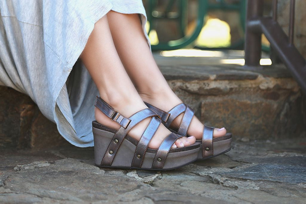 Sail into summer with these new platform wedges from OTBT. These comfortable shoes make the perfect summer wedges!