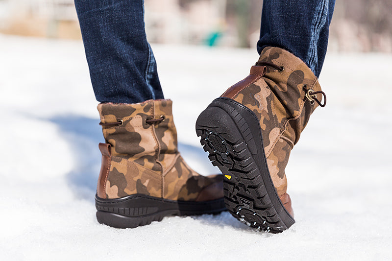 camo print cold weather boots