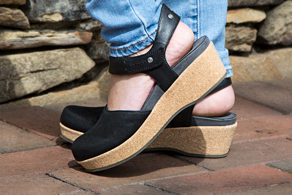 Stay comfortable this spring with OTBT's Elizabeth, closed-toe comfortable wedges for women.