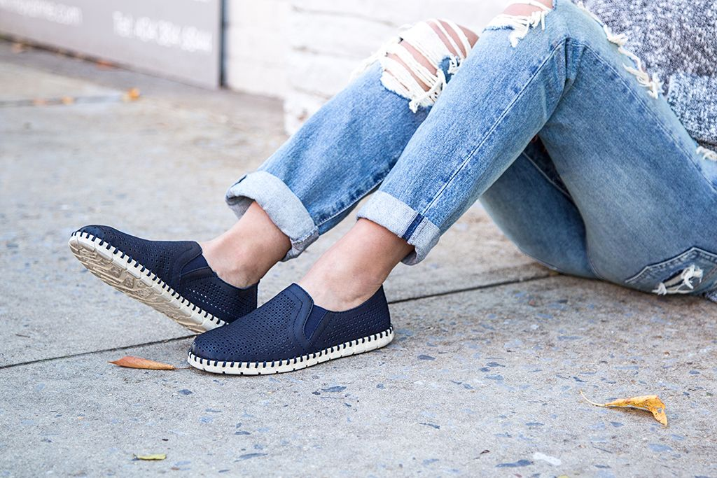 Slip into style with OTBT's Universe slip-on sneaker-loafer hybrid.