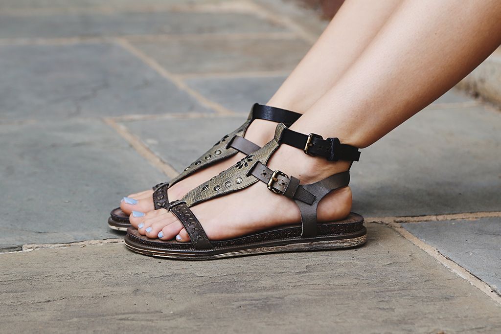 Live like a star in the Stargaze, comfortable studded gladiator sandals from OTBT.