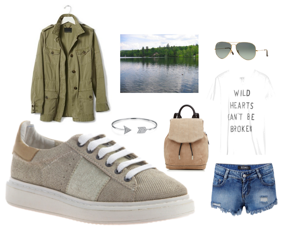 normcore polyvore lake day outfit
