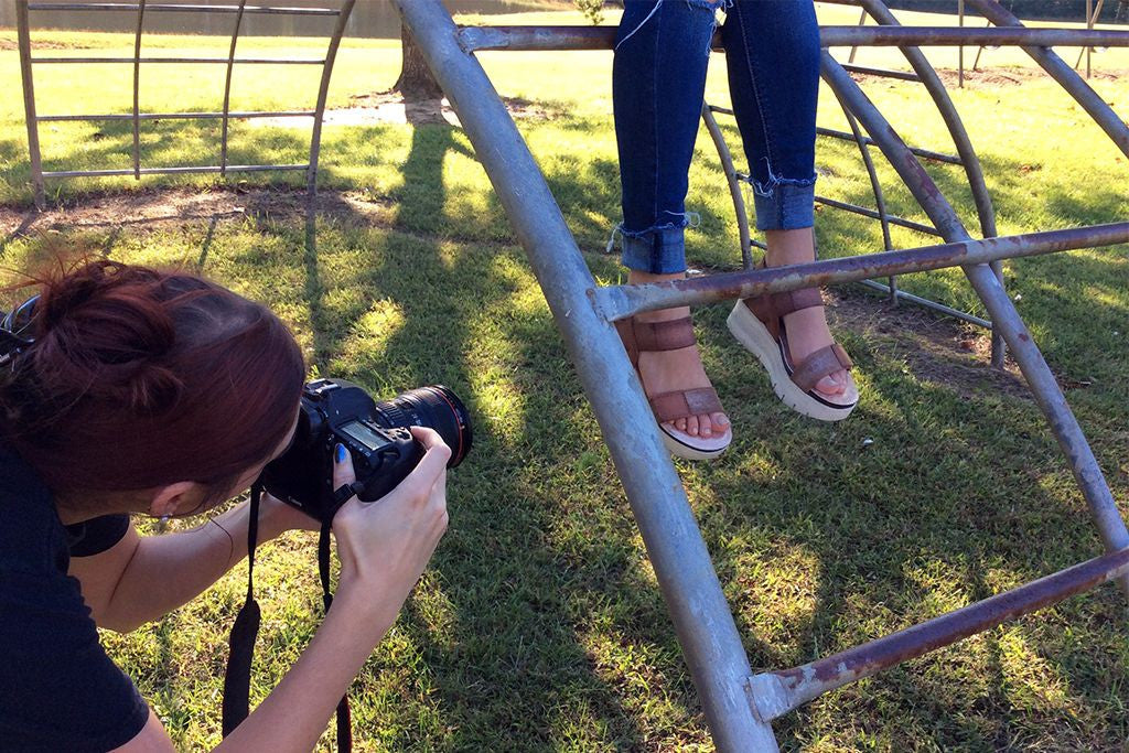 A behind the scenes look at OTBT's spring photo shoot.