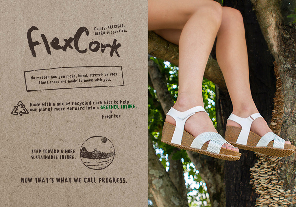 women's sustainable fashion wedge shoes flexcork