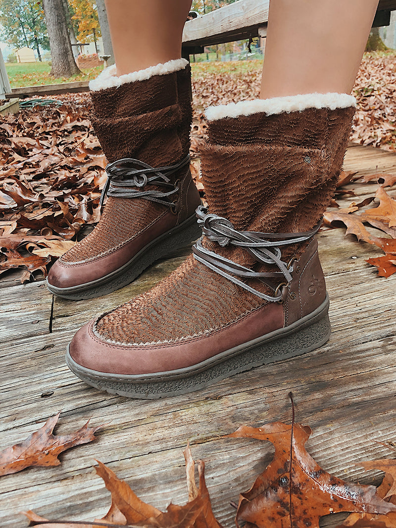 cold weather slip on boots