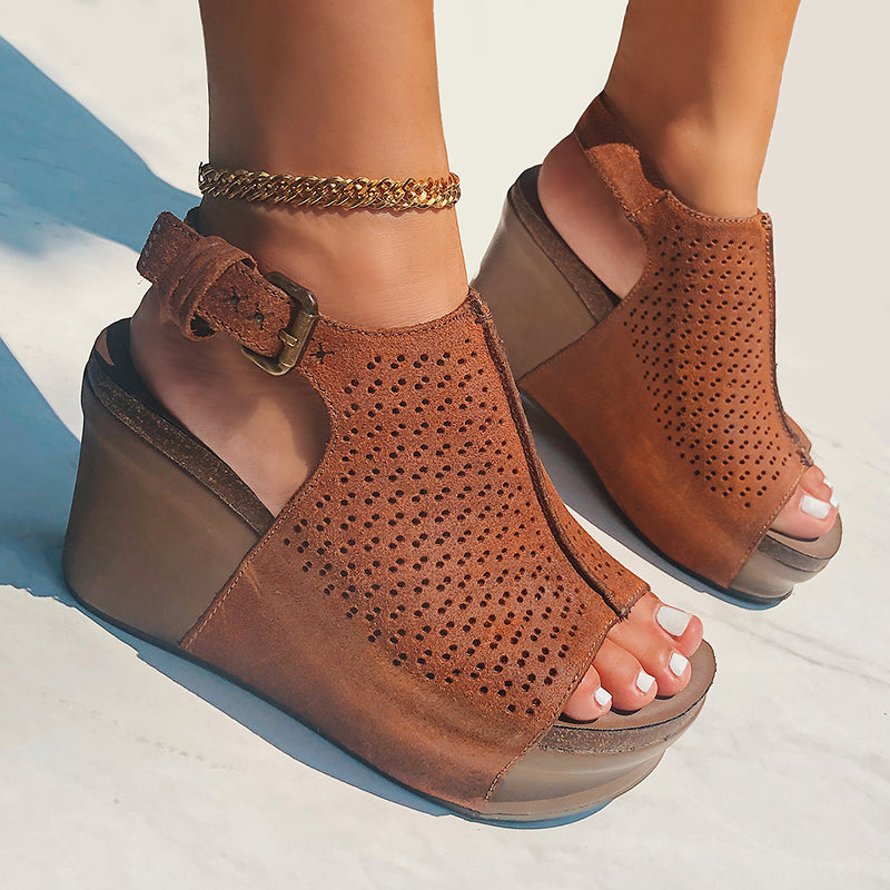 womens platform wedges