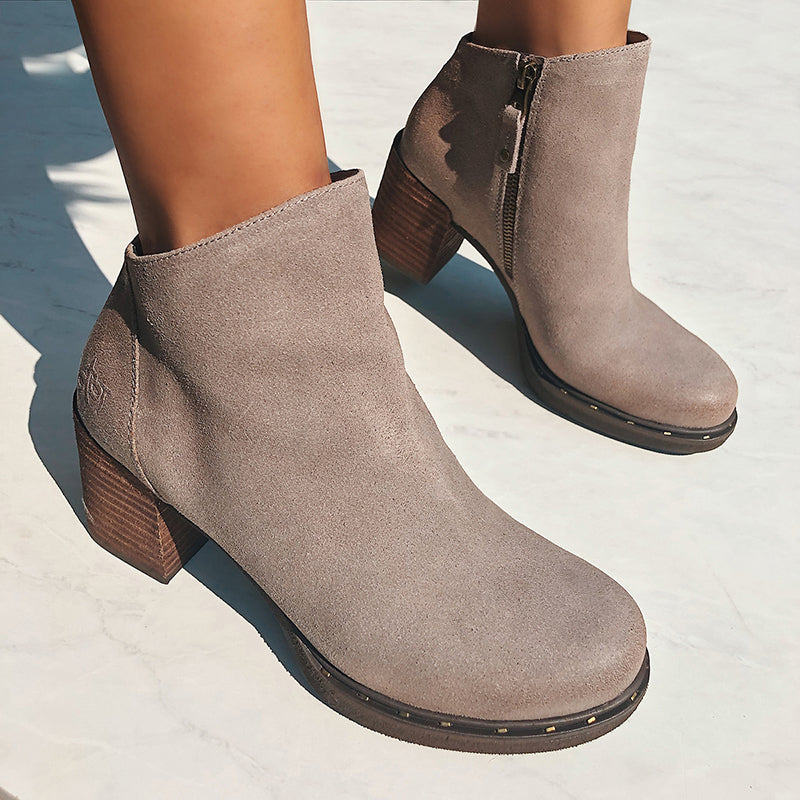 womens leather booties