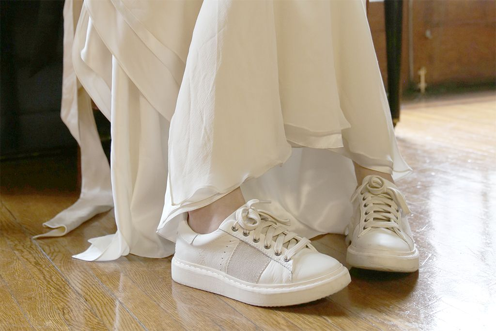 Check out how we've styled these comfortable women's sneakers for our wedding photoshoot.
