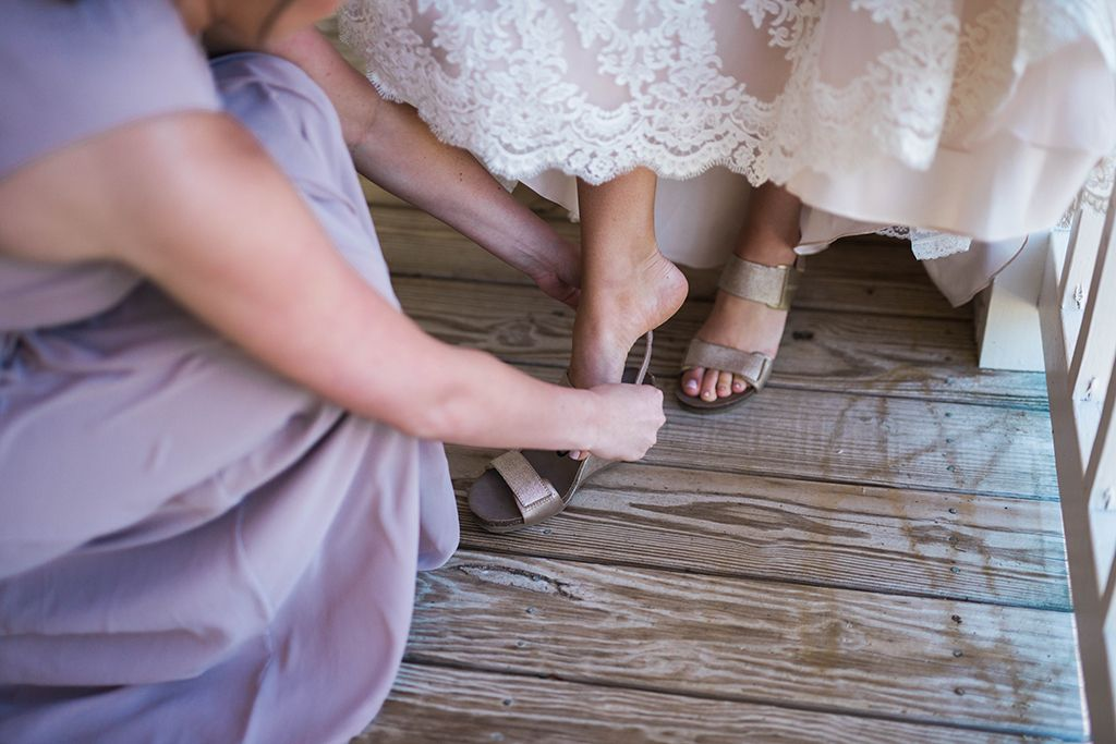 Check out OTBT fan Aleigha Hooper's gorgeous wedding day in the Trailblazer wedges!